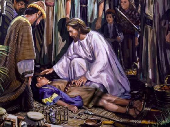 Lectura del santo evangelio según an Marcos (9,14-29)