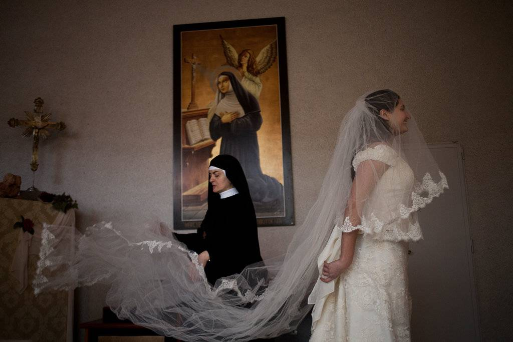 Trajes de novia gratis del Monasterio de S.Rita, Cascia.