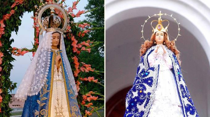 16 de Julio : La Virgen de Itatí y la Virgen de Caacupé unidos