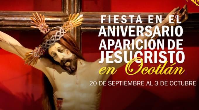 Celebraciòn de169 años de aparición de Jesús Crucificado en el cielo de México
