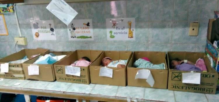 Crisis económica de Venezuela : neonatología en las cajas de cartón.