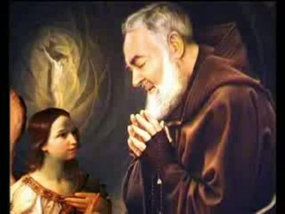 "P. Pio :""Si me necesitas, mándame tu ángel custodio""."