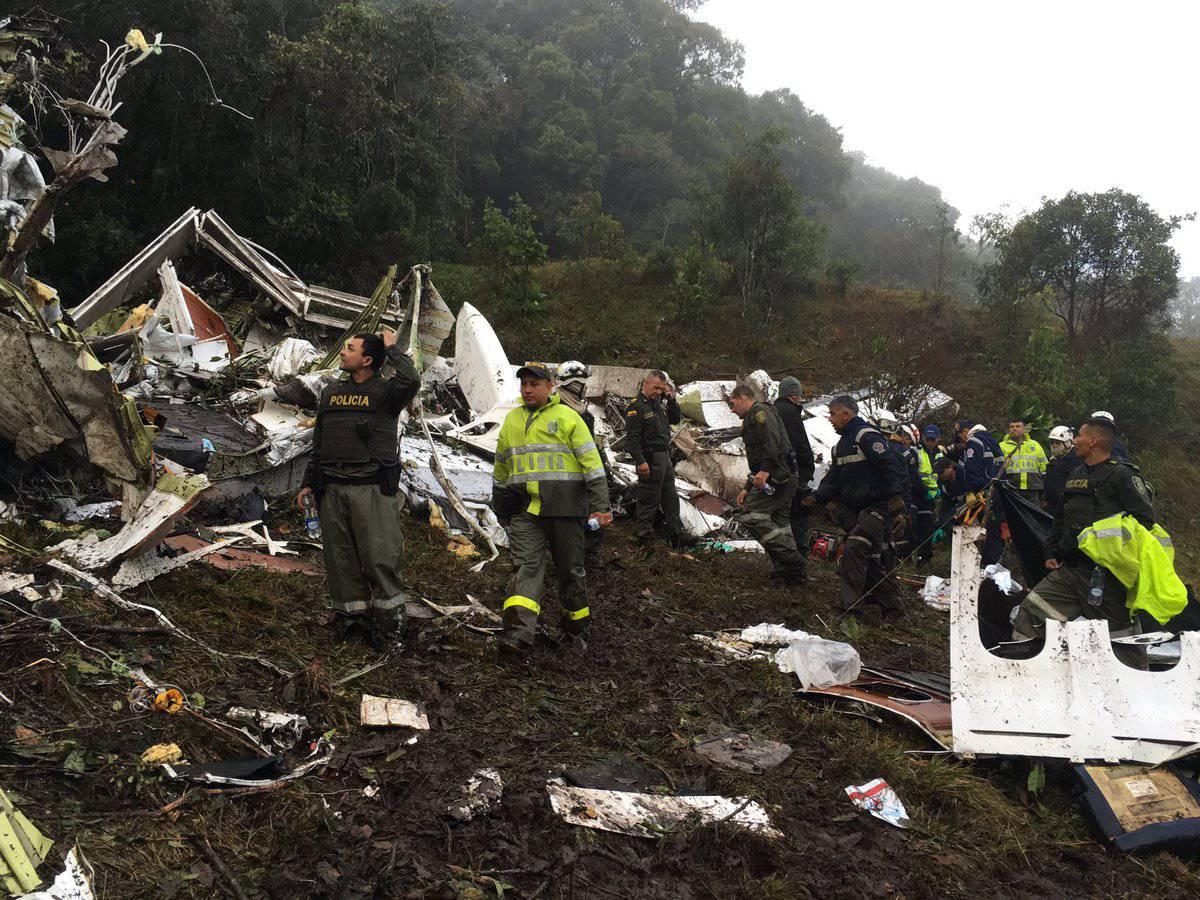 Tragedia aérea en Antioquia: fútbol, de luto por siniestro de avión en el que viajaban jugadores de Chapecoense. El mundo se une en oración
