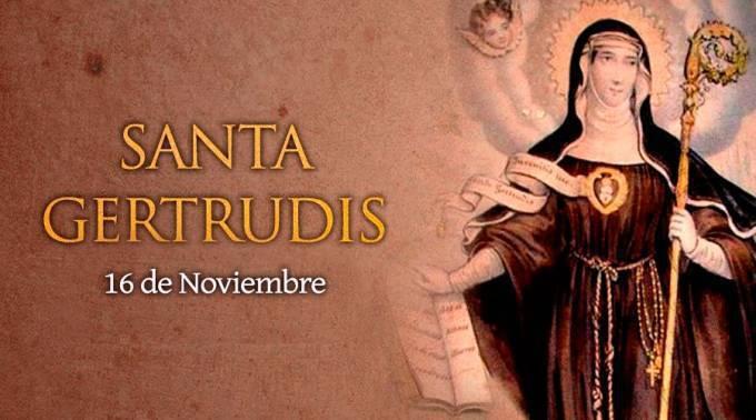 16 de noviembre: Santa Gertrudis, patrona de las personas místicas