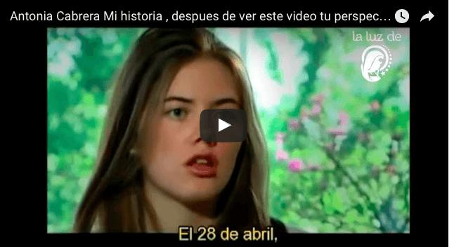 Antonia Cabrera Mi historia , despues de ver este video tu perspectiva cambiarà