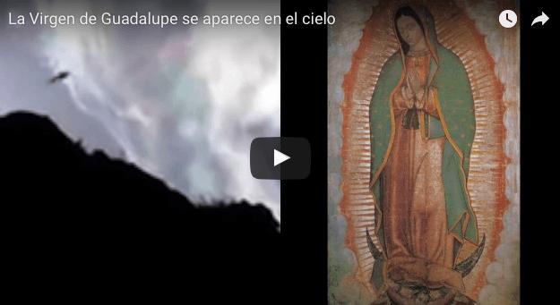 La Virgen de Guadalupe se aparece en el cielo