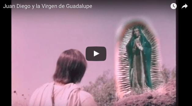 """Fragmento de la película """"La Virgen de Guadalupe""""  Juan Diego y la Virgen de Guadalupe"""