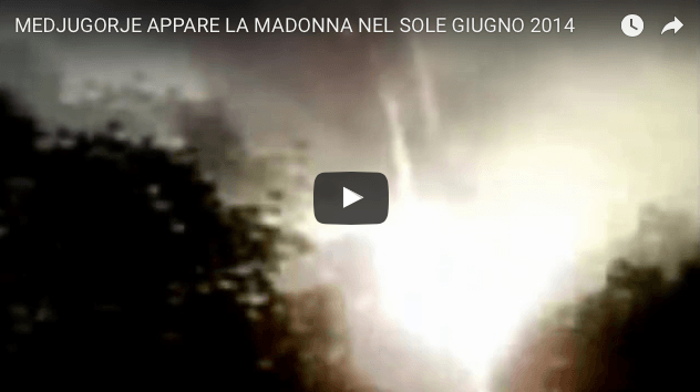 MEDJUGORJE Madonna Aparece en el sol de junio