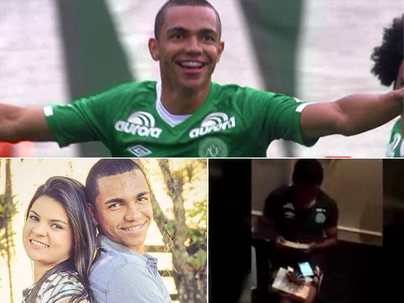 Thiaguinho, fallecido en la tragedia de Chapecoense, el descubrió hace una semana que sería papá