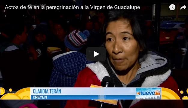 Actos de fe en la peregrinación a la Virgen de Guadalupe