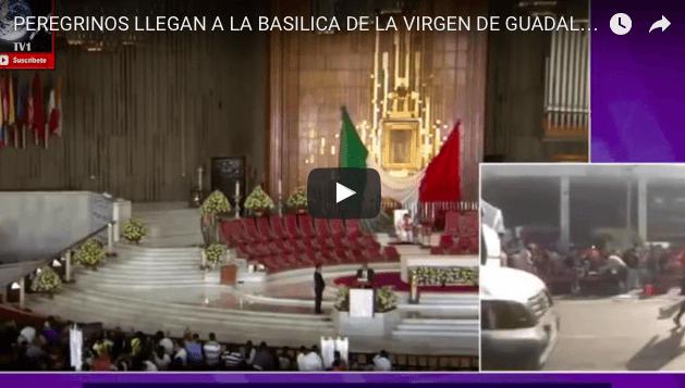PEREGRINOS LLEGAN A LA BASILICA DE LA VIRGEN DE GUADALUPE VIDEO CELEBRACIÓN 2016
