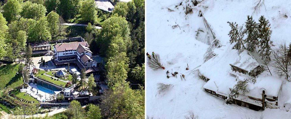 Encontrados seis supervivientes en el hotel sepultado por la nieve en Italia