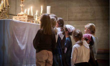 """¿Has oído hablar del """"efecto mariposa"""" de la adoración eucarística?…Se nota en las casas, en las familias, en el barrio…"""