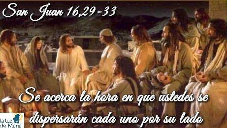 Evangelio según San Juan 16,29-33.