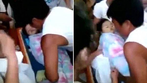 Una niña filipina de sólo tres años, se despierta en su funeral