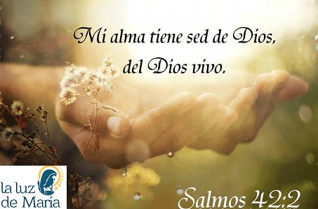 Mi alma tiene sed de ti, Dios vivo