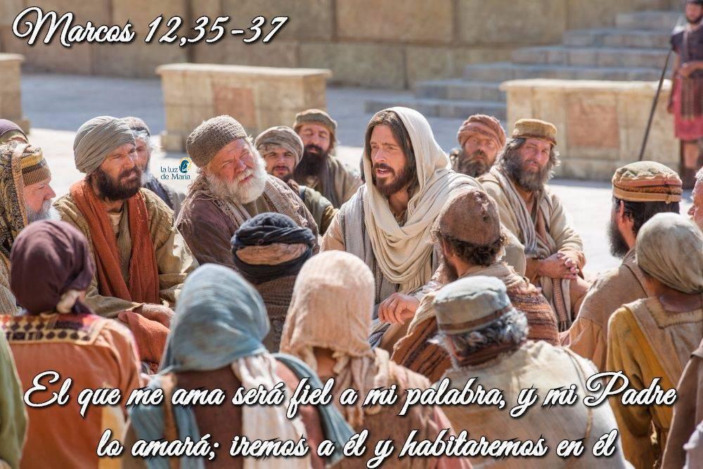 Evangelio según San Marcos 12,35-37.