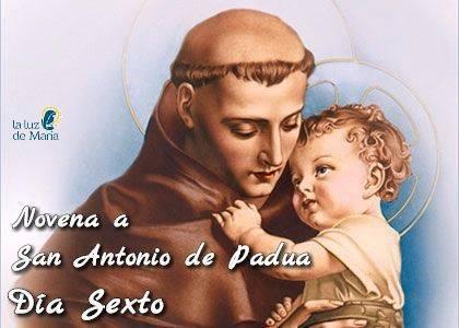 Novena a San Antonio de Padua (Día Sexto)