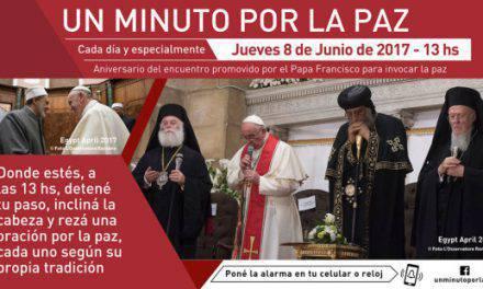 """""""Un minuto por la paz"""", porque la oración lo puede todo"""