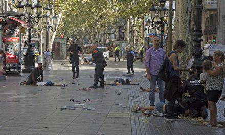 Atentado terrorista en Barcelona. Video.