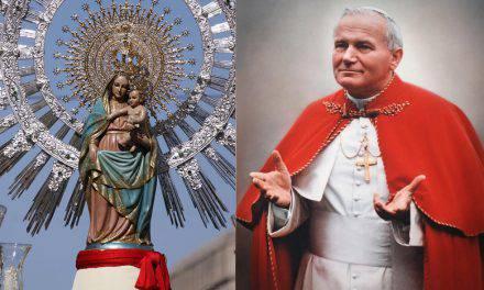 Oración del San Juan Pablo II a Nuestra Señora del Pilar
