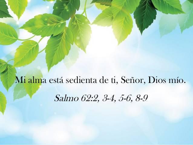 Mi alma está sedienta de ti, Señor, Dios mío