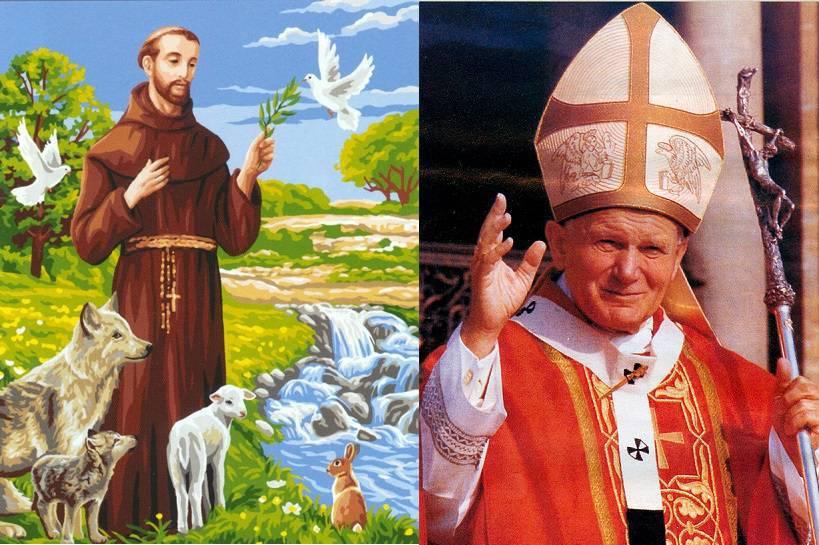 Oración de Juan Pablo II a San Franciscode Asís