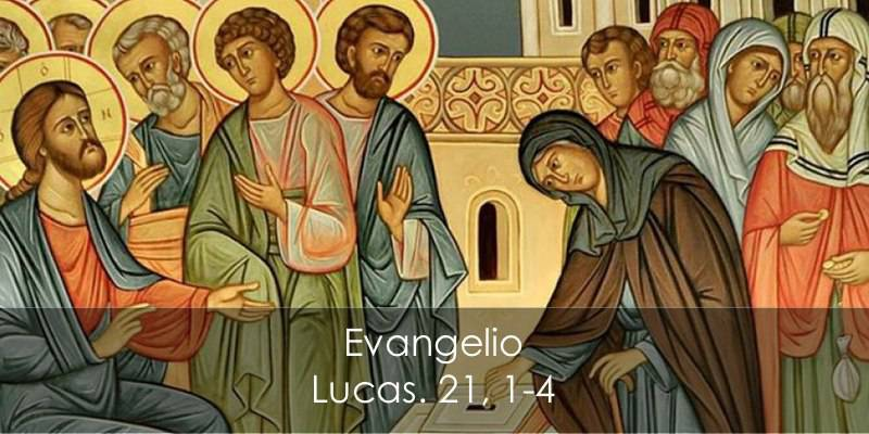 Evangelio según Lucas 21,1-4.