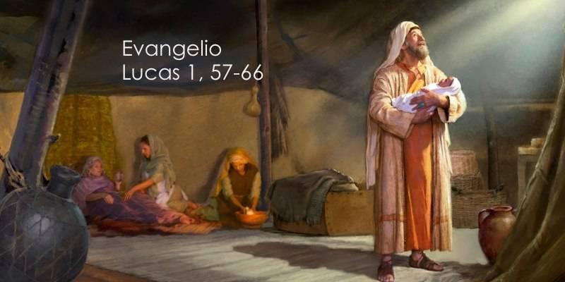 Evangelio según San Lucas 1,57-66.