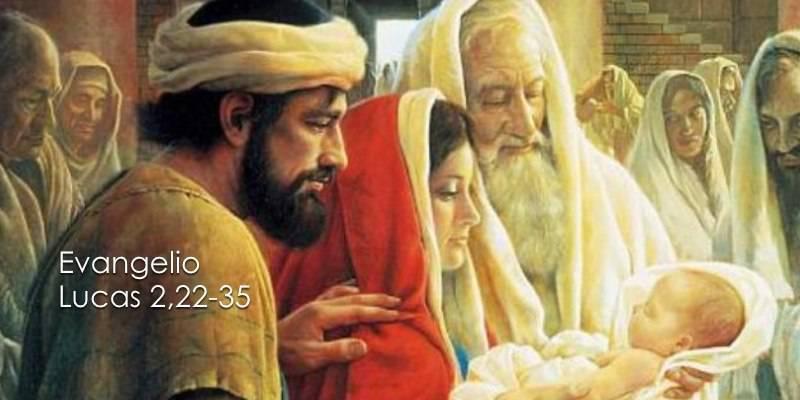Evangelio según San Lucas 2,22-35.