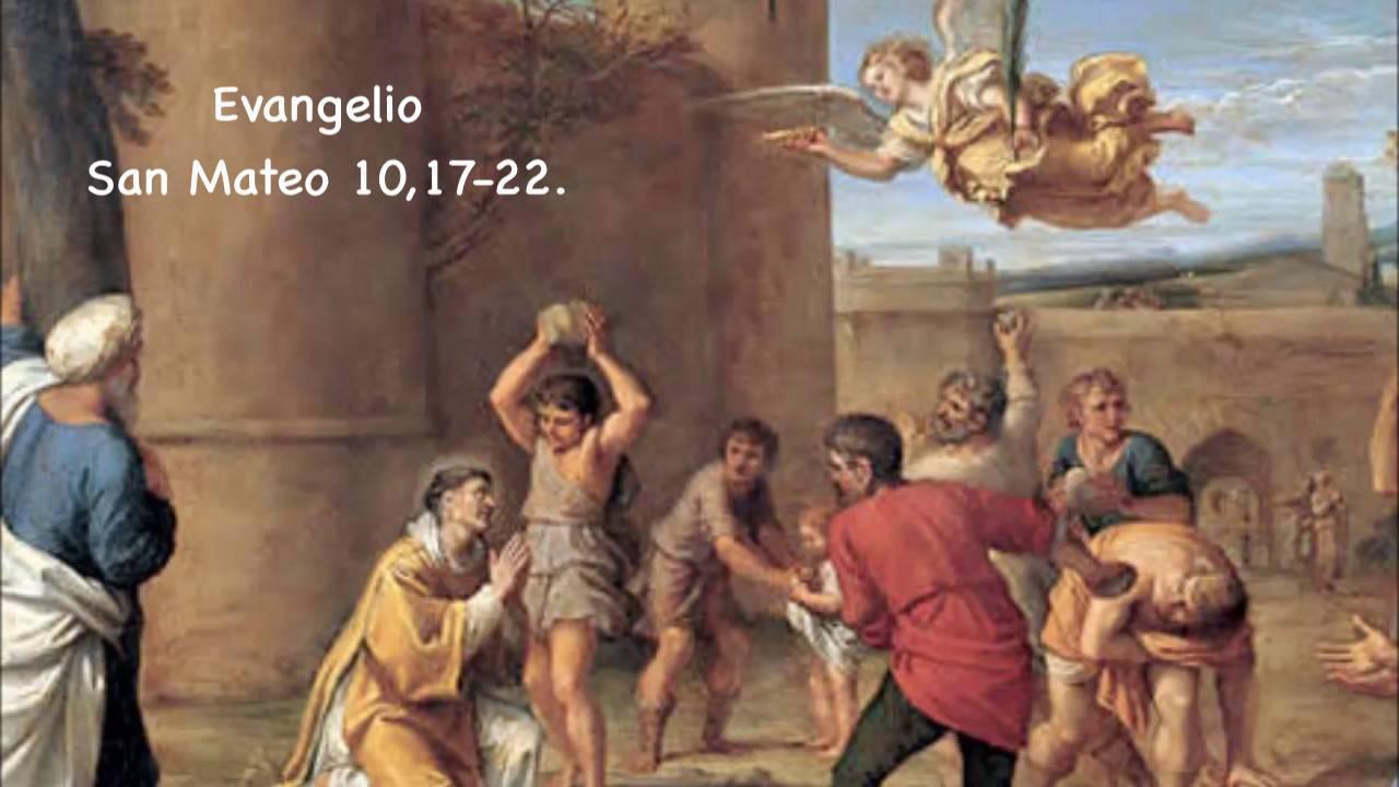 Evangelio según San Mateo 10,17-22.