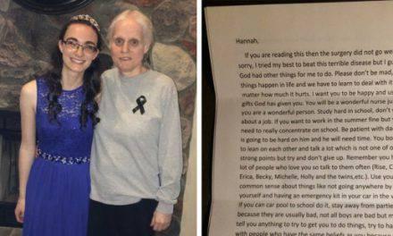 La conmovedora última carta de una madre moribunda a su hija