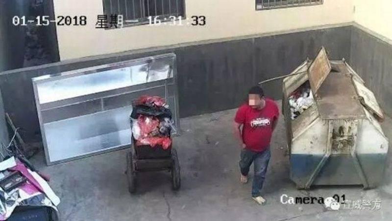 China: Niña abandonada en la basura, salvada por un ángel. VIDEO