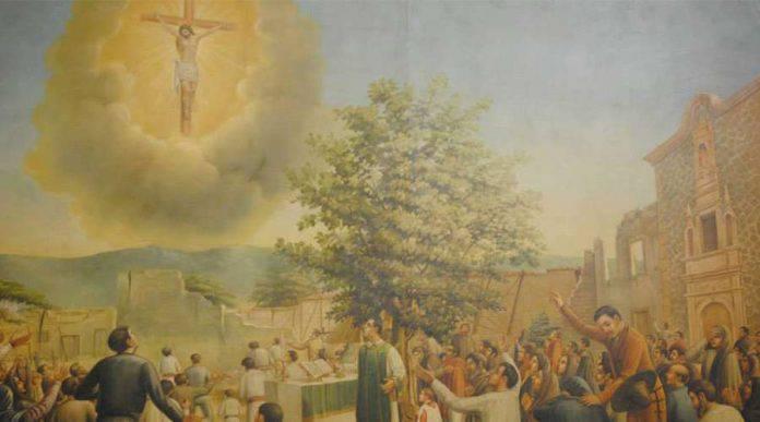 Jesús Crucificado se apareció en el cielo de México