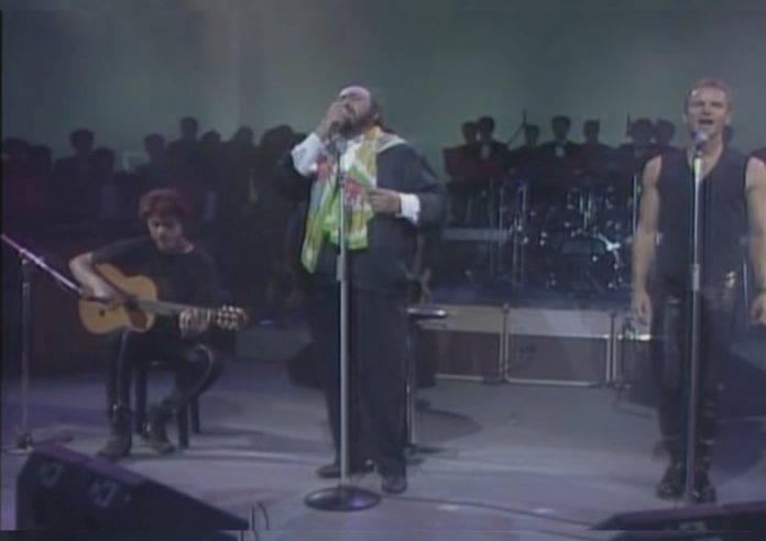 Pavarotti y Sting