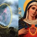 Sacerdote capta imagen de la Virgen María en un incendio forestal