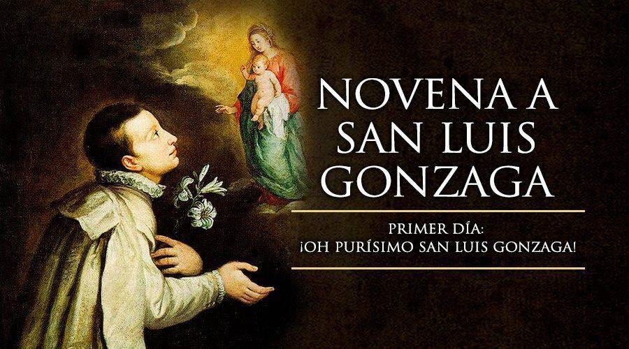 Primer día de la novena a San Luis Gonzaga