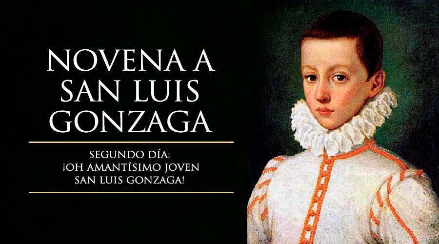 Segundo día de la novena a San Luis Gonzaga