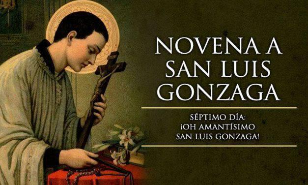 Séptimo día de la novena a San Luis Gonzaga