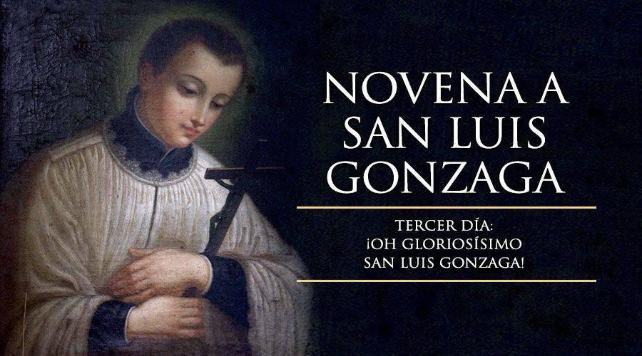 Tercer día de la novena a San Luis Gonzaga