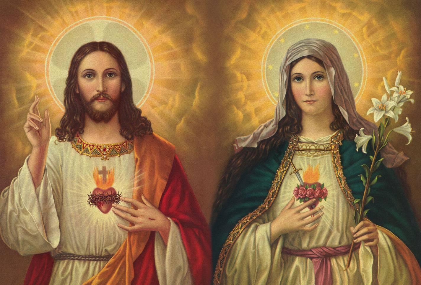 Oración de Consagración a los corazones de Jesús y María