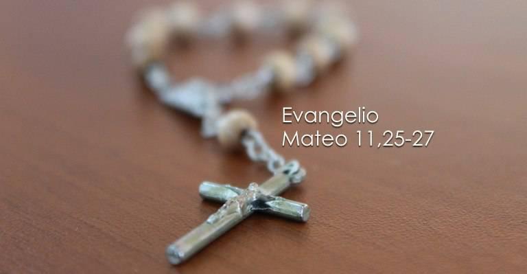 Evangelio según San Mateo 11,25-27.