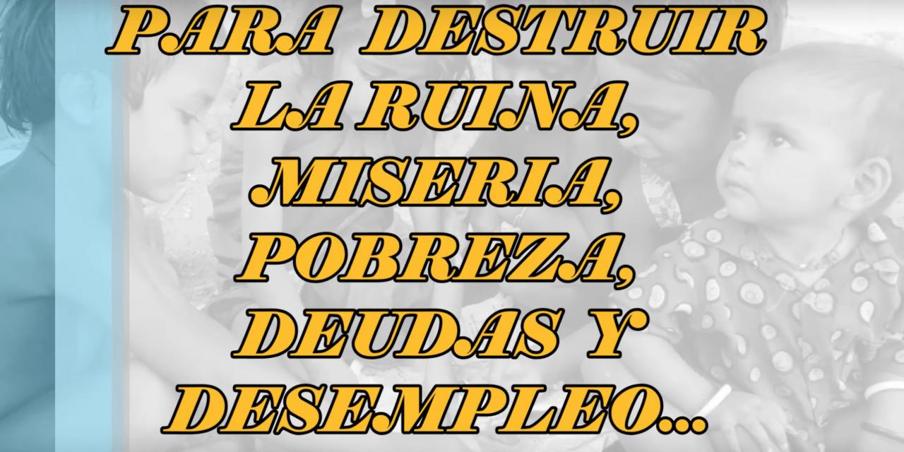 Oración para destruir la ruina, miseria, pobreza, deudas y desempleo