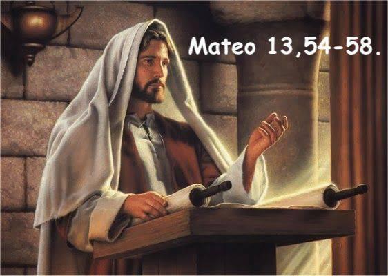 Evangelio según San Mateo 13,54-58.