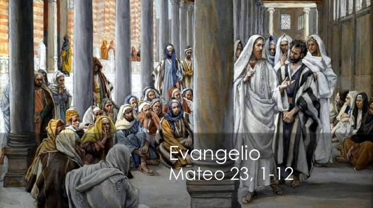 Evangelio según San Mateo 23,1-12
